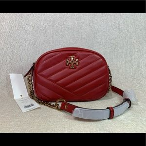 Tory Burch Red Apple Kira Chevron Camera Bag